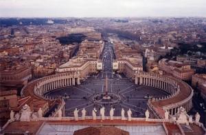 Námestie sv. Petra - pohľad z baziliky sv. Petra