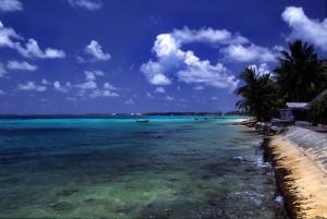 Pláž Tuvalu Funafuti